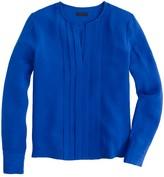 J.Crew Pleated silk crepe blouse