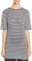 Eileen Fisher Striped Knit Organic Linen Tunic