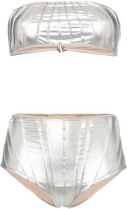 Adriana Degreas pleated bandeau bikini