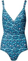 Matthew Williamson Tiger Palm Blue Tie Back Swimsuit