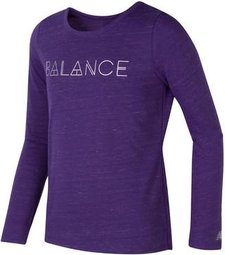 New Balance Girls 7-16 Long Sleeve Performance Top