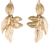 Oscar de la Renta Leaf Drop Earrings