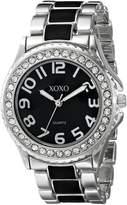XOXO Women's XO5471 Silver-Tone with Epoxy Analog Bracelet Watch