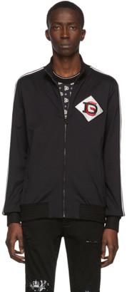 Dolce & Gabbana Black Patch Zip-Up Sweater