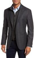 Ted Baker Men's Trim Fit Plaid Wool Sport Coat