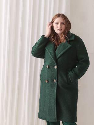 Double Breasted Wool-Blend Coat - Addition Elle