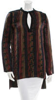Lanvin Printed Long Sleeve Tunic w/ Tags