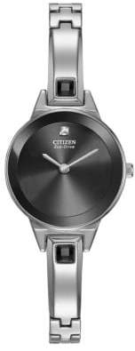 Citizen Ladies' Eco-Drive Silver Tone and Crystal Watch