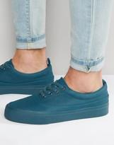 Asos Longwing Sneakers in Teal Faux Suede