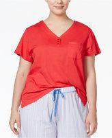 Karen Neuburger Plus Size Short-Sleeve Pajama Top