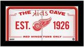 """Steiner Sports Detroit Red Wings 10"""" x 20"""" Kids Cave Sign"""