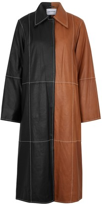 Stand Studio Nino Black And Brown Leather Coat