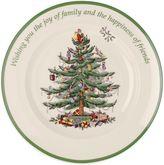 Spode Christmas Tree Sentiment Round Plate
