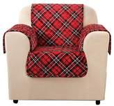 Sure Fit Red Furniture Flair Tartan Plaid Chair Cover