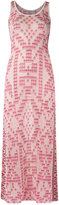 Cecilia Prado knit maxi dress - women - Acrylic/Lurex/Viscose - P