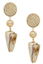 Ettika Nautical Nature Shell Earrings