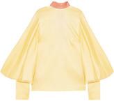 Roksanda Myra Open-back Hammered Silk-satin Blouse - UK10
