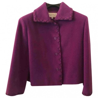 Byblos Purple Wool Coat for Women