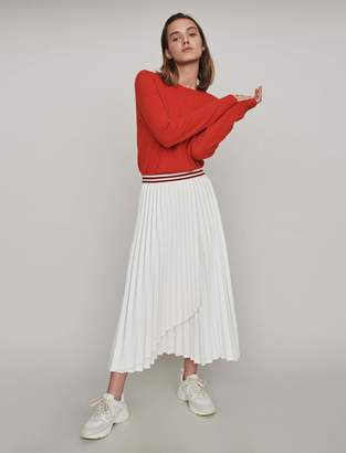 Maje Pleated skirt with contrasting stripes