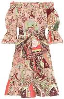 Etro Printed cotton minidress