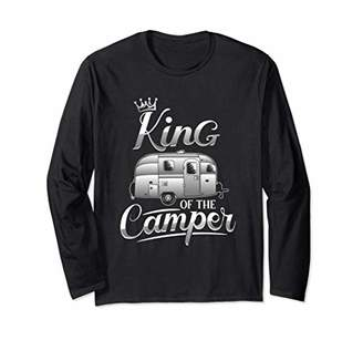Camper Camping Gifts King Of The Shirt Outdoor Camping RV Long Sleeve T-Shirt