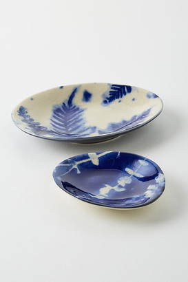 Anthropologie Herb Trinket Dish By in Blue Size S