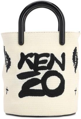 Kenzo Mini Coated Canvas Logo Bucket Bag