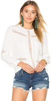 Amuse Society Escapade Woven Top in White. - size XS (also in )