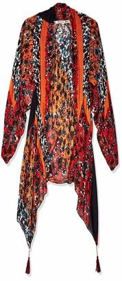 Michael Stars Women's Floral Tasseled Kimono