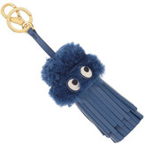 Anya Hindmarch TASSEL GHOST IN BLUEBERRY SHEARLING