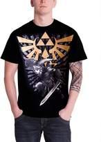 Nintendo Zelda T Shirt Gold Legend of Zelda Link Sword Official Mens