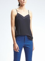 Banana Republic Easy Care Seamed Crepe Cami