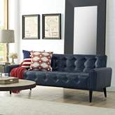 Modway Delve Vinyl Sofa in Blue