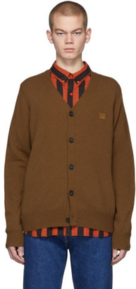 Acne Studios Brown Face Cardigan