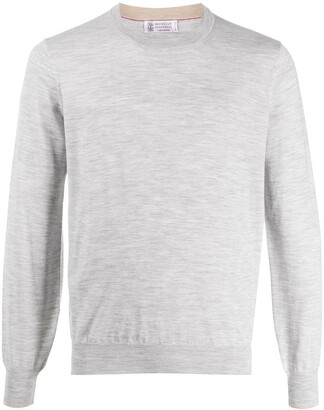 Brunello Cucinelli Long Sleeve Relaxed Fit Pullover