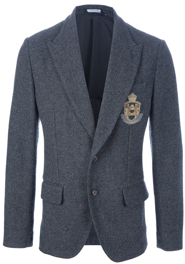 Dolce & Gabbana Crested wool blazer