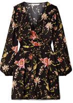 Rachel Zoe Drea Ruffled Floral-print Voile Mini Dress