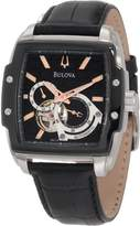 Bulova Men's Mechanical 98A118 Calf Skin Automatic Watch with Dial