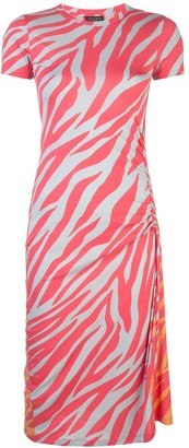 Rag & Bone tiger-print drawstring bodycon dress