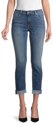 Hudson Straight Flood Rolled-Cuff Jeans