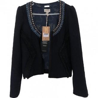 Maison Scotch Navy Cotton Jacket for Women
