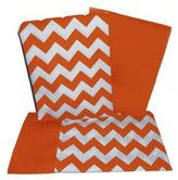 Baby Doll Bedding Chevron Rocking Chair Cushion - Color: Orange
