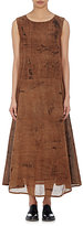 Pas De Calais Women's Shantung A-Line Maxi Dress-BROWN