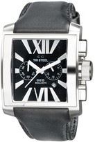 TW Steel Goliath CE3006 Stainless Steel / Leather with Black Dial 42mm Mens Watch