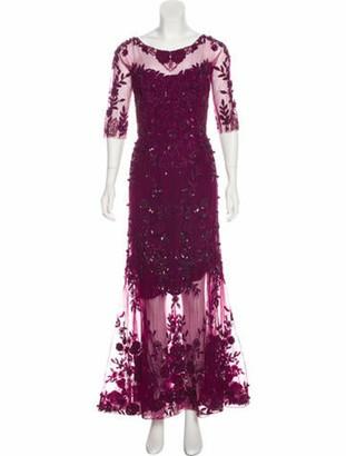ZUHAIR MURAD Silk-Blend Evening Dress Violet
