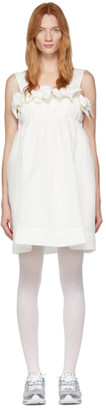 pushBUTTON SSENSE Exclusive Off-White Double Ribbons Mini Dress