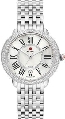 Michele 36mm Serein Mid Stainless Steel Diamond Watch