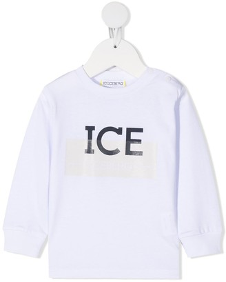 Iceberg Kids Logo-Print Cotton Sweatshirt