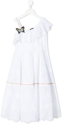 MonnaLisa Embroidered Flared Dress