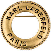 Karl Lagerfeld Signed Circle Brooch